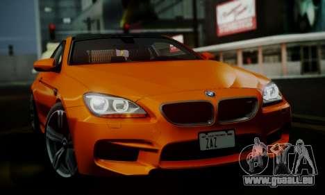 BMW M6 F13 2013 pour GTA San Andreas vue de dessous