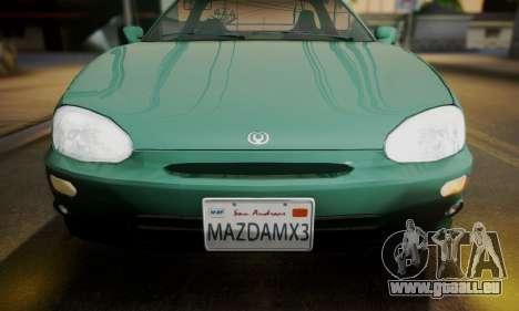 Mazda MX-3 pour GTA San Andreas sur la vue arrière gauche