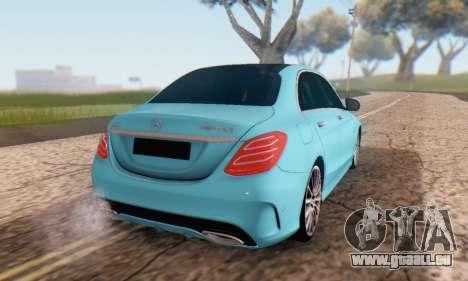 Mercedes-Benz C250 AMG pour GTA San Andreas vue intérieure