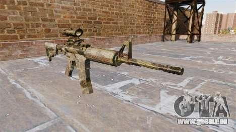 Automatic carbine MOI Camouflage Flore pour GTA 4