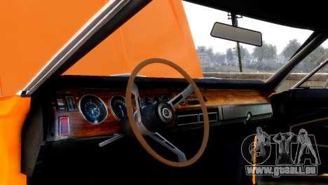 Dodge Charger RT 1970 für GTA 4 Rückansicht