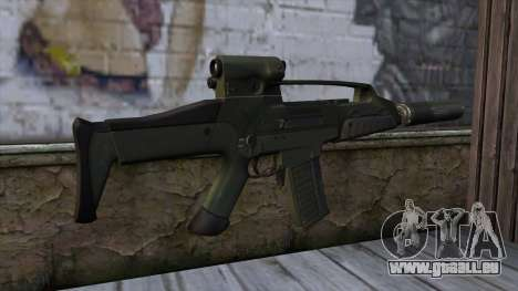 XM8 Compact Green pour GTA San Andreas deuxième écran