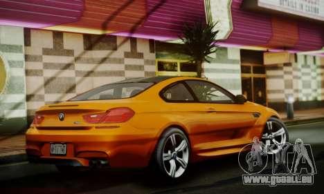 BMW M6 F13 2013 pour GTA San Andreas vue arrière