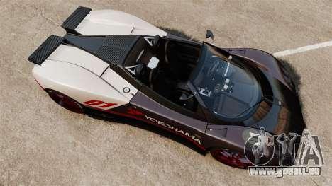Pagani Zonda C12S Roadster 2001 v1.1 PJ4 für GTA 4 rechte Ansicht