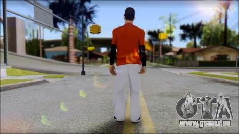 Polera Naranja con Gorro pour GTA San Andreas deuxième écran