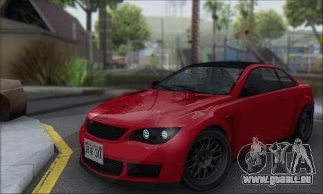 La supériorité Sentinel XS pour GTA San Andreas laissé vue