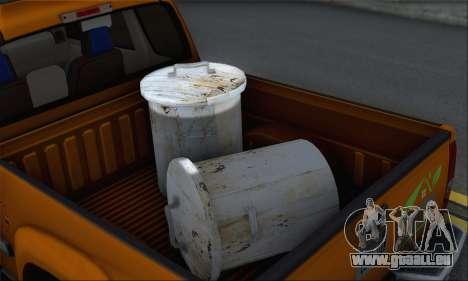 Chevrolet Colorado Cleaning für GTA San Andreas Rückansicht