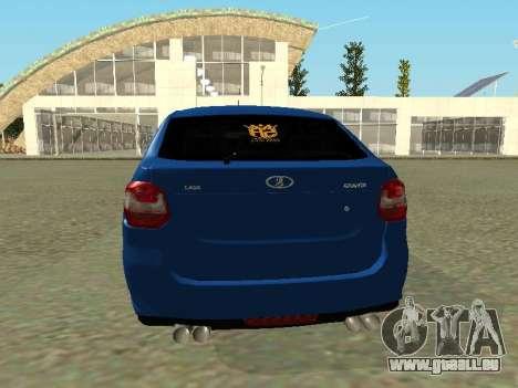 Lada Granta Liftback für GTA San Andreas Rückansicht