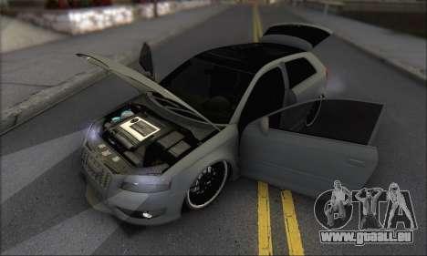 Audi S3 2006 Custom für GTA San Andreas Unteransicht