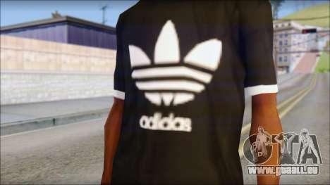 Adidas Black T-Shirt pour GTA San Andreas troisième écran