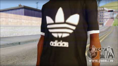 Adidas Black T-Shirt für GTA San Andreas dritten Screenshot