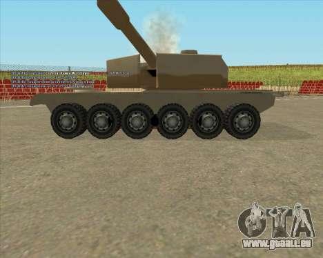 Dozuda.s Primary Tank (Rhino Export tp.) für GTA San Andreas Rückansicht