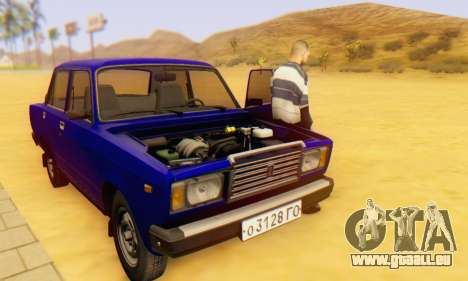 VAZ 2107 Stock pour GTA San Andreas salon
