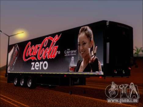 Remorque Chereau Coca-Cola Zero De Camion pour GTA San Andreas laissé vue