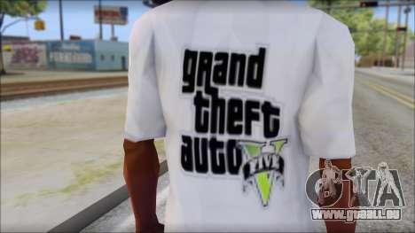 GTA 5 Fan T-Shirt pour GTA San Andreas troisième écran