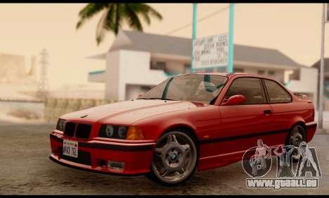 BMW M3 E36 1994 pour GTA San Andreas sur la vue arrière gauche