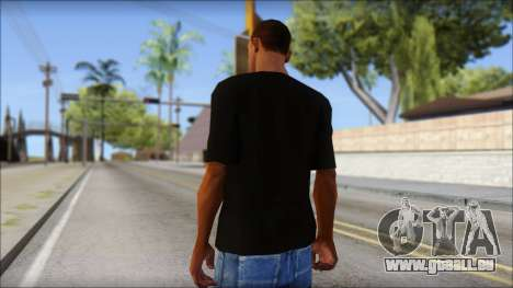 Black Izod Lacoste T-Shirt für GTA San Andreas zweiten Screenshot