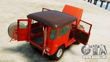 Toyota FJ40 Land Cruiser 1978 Beta für GTA 4 Rückansicht