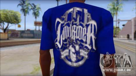 Lowrider Blue T-Shirt für GTA San Andreas dritten Screenshot