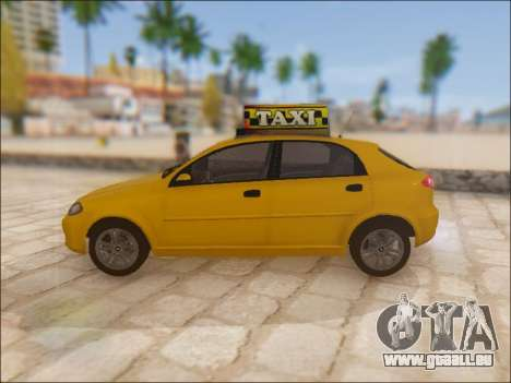 Chevrolet Lacetti Taxi pour GTA San Andreas laissé vue