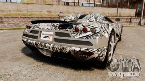 Koenigsegg CCX v1.5 pour GTA 4 Vue arrière de la gauche