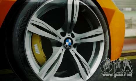 BMW M6 F13 2013 pour GTA San Andreas roue