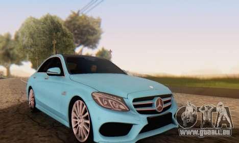Mercedes-Benz C250 AMG pour GTA San Andreas vue arrière