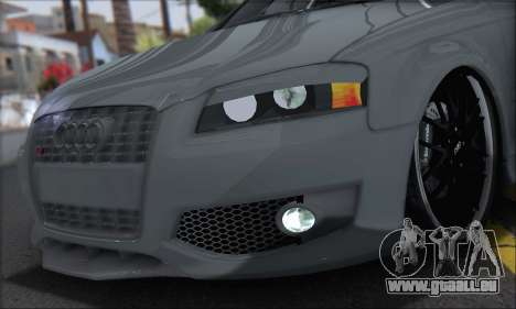Audi S3 2006 Custom für GTA San Andreas zurück linke Ansicht