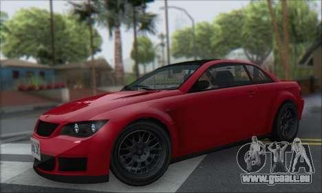 La supériorité Sentinel XS pour GTA San Andreas vue de droite