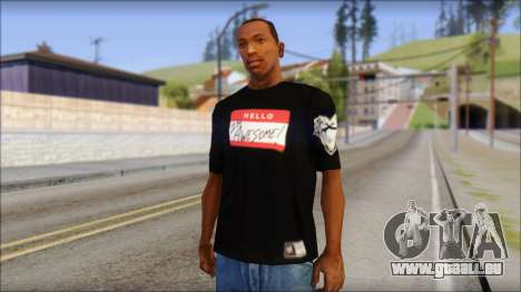 I am Awesome T-Shirt pour GTA San Andreas