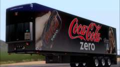 Trailer Chereau Coca-Cola Zero LKW für GTA San Andreas