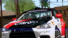Mitsubushi Lancer Evolution Rally Team Claro für GTA San Andreas
