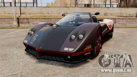 Pagani Zonda C12S Roadster 2001 v1.1 PJ4 pour GTA 4