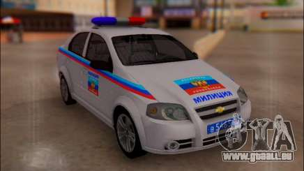 Chevrolet Aveo Police LNR pour GTA San Andreas