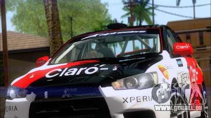 Mitsubushi Lancer Evolution Rally Team Claro pour GTA San Andreas