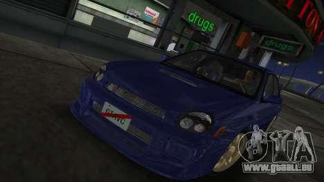 Subaru Impreza WRX 2002 Type 2 pour GTA Vice City sur la vue arrière gauche