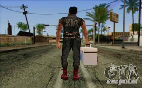 Claude in Pank Style für GTA San Andreas zweiten Screenshot