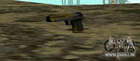 Gold Deagle für GTA San Andreas dritten Screenshot