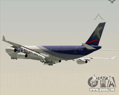 Airbus A340-313 LAN Airlines pour GTA San Andreas roue