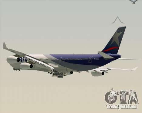 Airbus A340-313 LAN Airlines für GTA San Andreas Räder