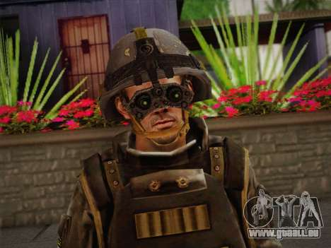 Боец СВР (Tom Clancy Splinter Cell) v1 pour GTA San Andreas troisième écran