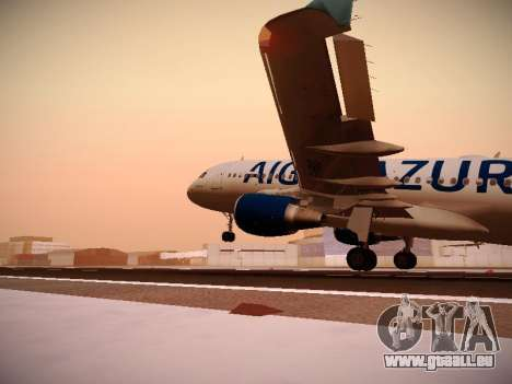 Airbus A320-211 Aigle Azur für GTA San Andreas Innen