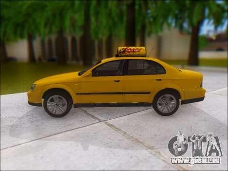 Chevrolet Evanda Taxi pour GTA San Andreas laissé vue