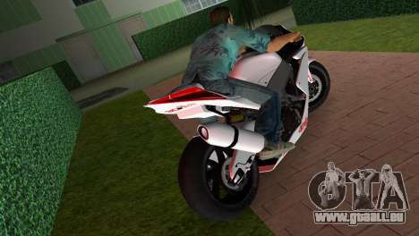 Aprilia RSV4 2009 White Edition I für GTA Vice City zurück linke Ansicht