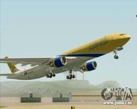 Airbus A330-300 Gulf Air pour GTA San Andreas vue intérieure