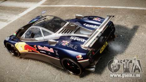 Pagani Zonda Tricolore pour GTA 4 est une vue de l'intérieur