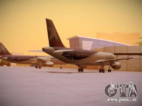 Airbus A320-214 LAN Airlines für GTA San Andreas rechten Ansicht
