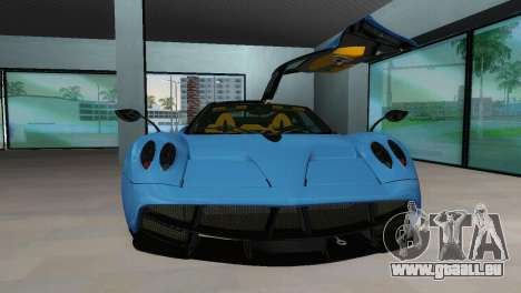 Pagani Huayra 2012 pour GTA Vice City sur la vue arrière gauche
