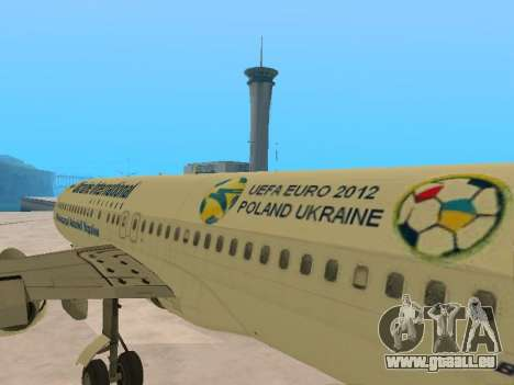 Boeing 737-84R Ukraine International Airlines für GTA San Andreas Seitenansicht