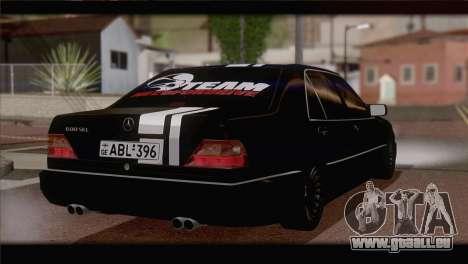 Mercedes-Benz S600 pour GTA San Andreas laissé vue
